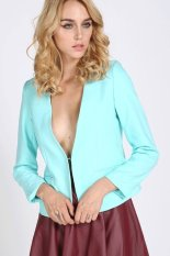 Cyber Women's OL Chiffon Hippie Loose Coat Cape Blazer (Light Blue)
