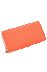 Cyber Zipper Coin Purse Bag Clutch Wallet Women Wallet Ladies Handbags (Orange)