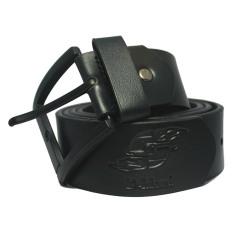 D-Island Belts Luxury Leather Black Pin Buckle Belt