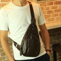 DD Mall Hot Sales 2017 Mens High Quality Soft Leather Crossbody Bag Individual Design Strong Buckle Satchel Street Fashion Shoulder Bags DAKJ9T (Color:As First Picture) - intl