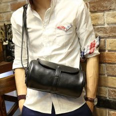DD Mall Leather Chest Pack Mens Satchel For IPAD Single Shoulder Bag Retro High-capacity Cylinder Crossbody Bag DAI1SZ (Color:As First Picture) - intl