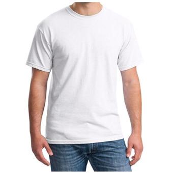 DEcTionS T-Shirt Softstyle - Kaos Polos Pria - Putih