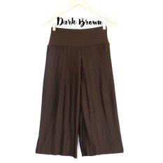 De'Links Plisket Cullot Pants BCPD18103 (Dark Brown)