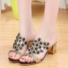 Designer Sexy Women Sandals Summer Ladies High Heels Shoes -Black - intl
