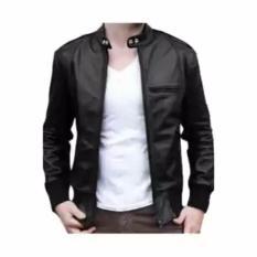 Djavu jaket kulit ariel hitam