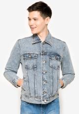 People's Denim Men Junior Jacket Denim - Biru