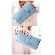 Dompet Fashion Wanita Multi Fungsi Import Korea Wallet - Biru