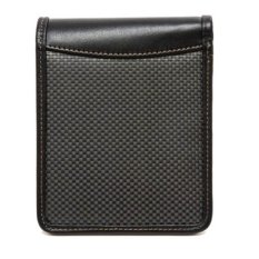 Dompet Multifungsi Dark Carbon Fiber Wallet with RFID Security 2.0 Travel - Hitam