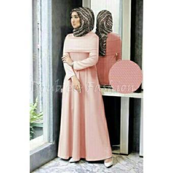 DoubleC Fashion Maxi Cape Diah Peach