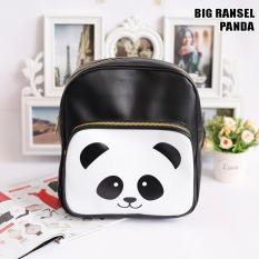 EL PIAZA Ransel Big Panda - Ransel Lucu Tas Ransel Tas Sekolah Anak Tas Berpergian Tas