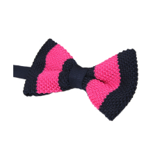 ELENXS Fashion Mens Bar Wedding Bow Tie Necktie (Pink&Dark Blue)