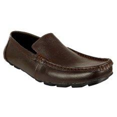 Elfs Shop - Sepatu Loafer Leather 072-Coklat Tua