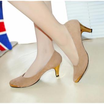 Ellen Grosir - High Heels Pantofel Suede