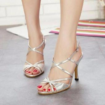 Ellen Grosir - High Heels Pesta [Silver]