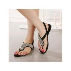 Ellen Grosir - Sandal Teplek Permata NS11 (Hitam)