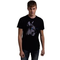 EOZY Brand New Men's Casual Round Neck Short Sleeve T-Shirts European Style Male Sports Leisure Animal Printed Cotton Soft T-Shirts Tops (Black) - Intl