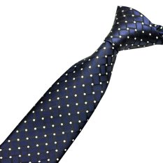 EOZY Trendy Men's Classic Neck Ties Adjustable Korean Style Male Wedding Party Business Casual Dots Pattern Ties (Blue)