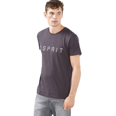 Esprit Jersey Logo T-Shirt, 100% Cotton - Dark Grey