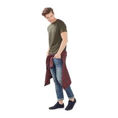 Esprit Jersey Logo T-Shirt, 100% Cotton - Dark Khaki