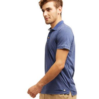 Esprit Vintage Blended Cotton Jersey Polo Shirt - Dark Blue