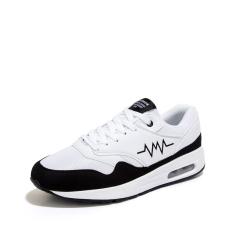 ESSAN Fashion Men Causal Shoes Low Top Sneakers Comfortable Air Cushion (Black) (Intl)