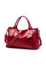European And American Style Fashion Leisure Top-HandleBag-1003-Wine Red - Intl - Intl