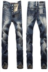 European-style High-quality Men's Jeans (Blue) (Intl)