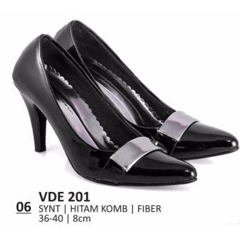 Everflow Sepatu Formal / Sepatu Pantofel / Sepatu Kerja / Sepatu High Heels Wanita Everflow VDE 201 Heels 8 cm Hitam