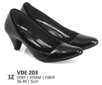 Everflow Sepatu Formal Wanita Heels VDE 203 - Synthetic - Black