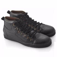 Everflow Sepatu Sneaker High Cut Pria - Synthetic - Black