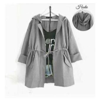 F Fashion Jaket Wanita Joy - Abu