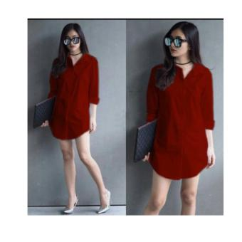 F Fashion Tunik Wanita Shinta - Maroon