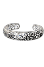 Fancyqube 925 Sterling Silver Hollow Out Gelang Wanita - Silver