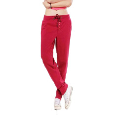 Fancyqube Straight Sports Casual Hip-Hop Pants (Red)