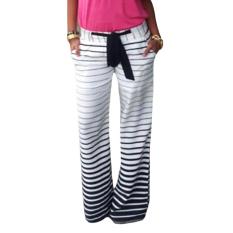 Fancyqube Stripe Loose Comfortable Casual Jogging Pants