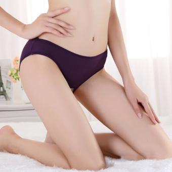 Fang Fang Unique Design Women Sexy Lace Open Butt Backless Panties Underwear (Purple)
