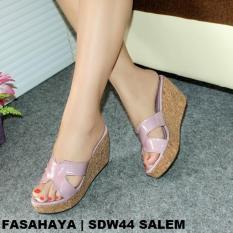 Fasahaya Sandal Wanita Wedges Cantik Murah SDW44 Salem