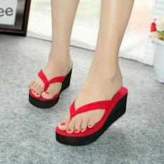 Fasahaya Sandal Wedges Spon SDW17 Merah