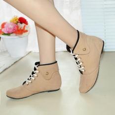 Fasahaya Sepatu Boot Wanita SBT01 Krem