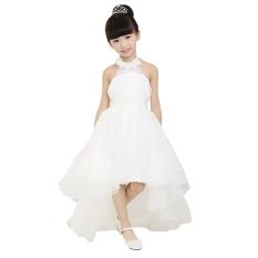Fashion Anak Perempuan Jala Kutang Pinggang Tinggi Asimetris Gaun Pesta Tutu Dalam