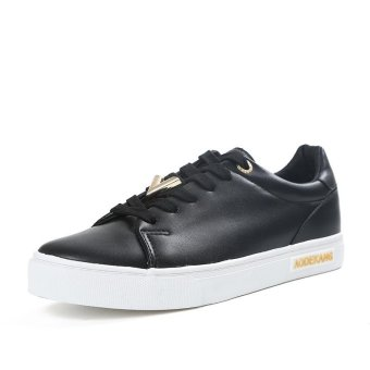 Fashion Breathable Female Casual Student Shoes Korean Low Cut Anti-Slip Women Sneakers (Black) - intl