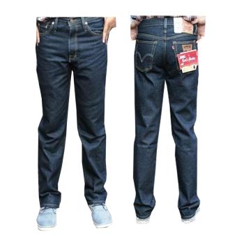 Fashion Celana Jeans Panjang Standar/Reguler - Biru Dongker