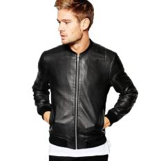 Fashion Exclusive - Smart Boomber Leather Jacket - Hitam