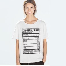 Fashion Facts Women's Fashion Loose Letters Printed T-shirt- Intl