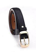 Fashion Faux Leather Metal Waist Cummerbunds Belts For Women Black (Intl)