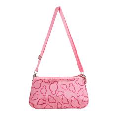 Fashion Girl Lovely Canvas Handbag Women Daily Single Shoulder Handbag Female Canvas Beach Bag Women Canvas Tote (Pink) - Intl