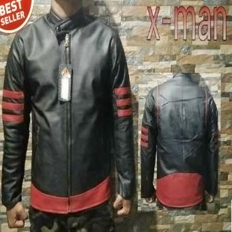 Fashion Jaket Kulit X - Men Merah - Hitam