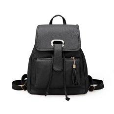 Fashion Korean Bag - Tas Wanita Import Ransel Hitam - new arrival