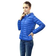 Fashion Ladies Winter Coat Cotton Jacket Top Female Slim Outerwear Blue