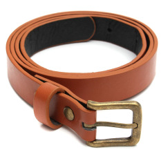 Fashion Ladies Women's PU Leather Belt Casual Pin Buckle Waist Strap Waistband (Brown) (Intl)